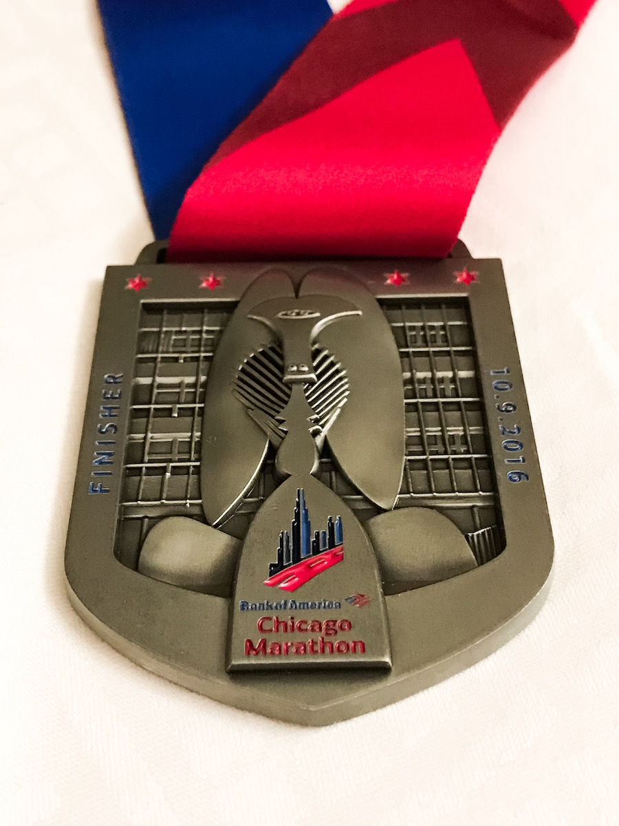 2016 Chicago Marathon medal