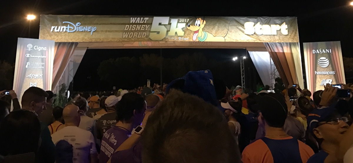 Disney World 5k starting line