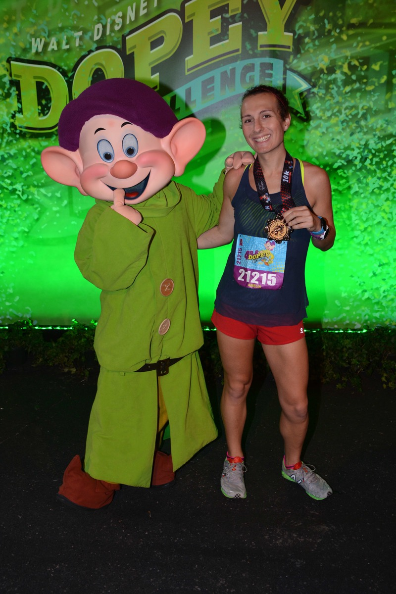 Amelia Gapin with Dopey