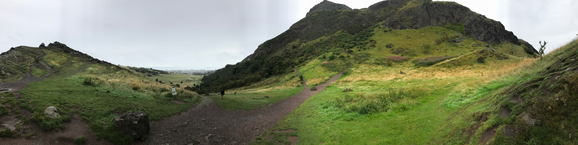 Looking up at Arthur's Seat from the beginning of the hike.