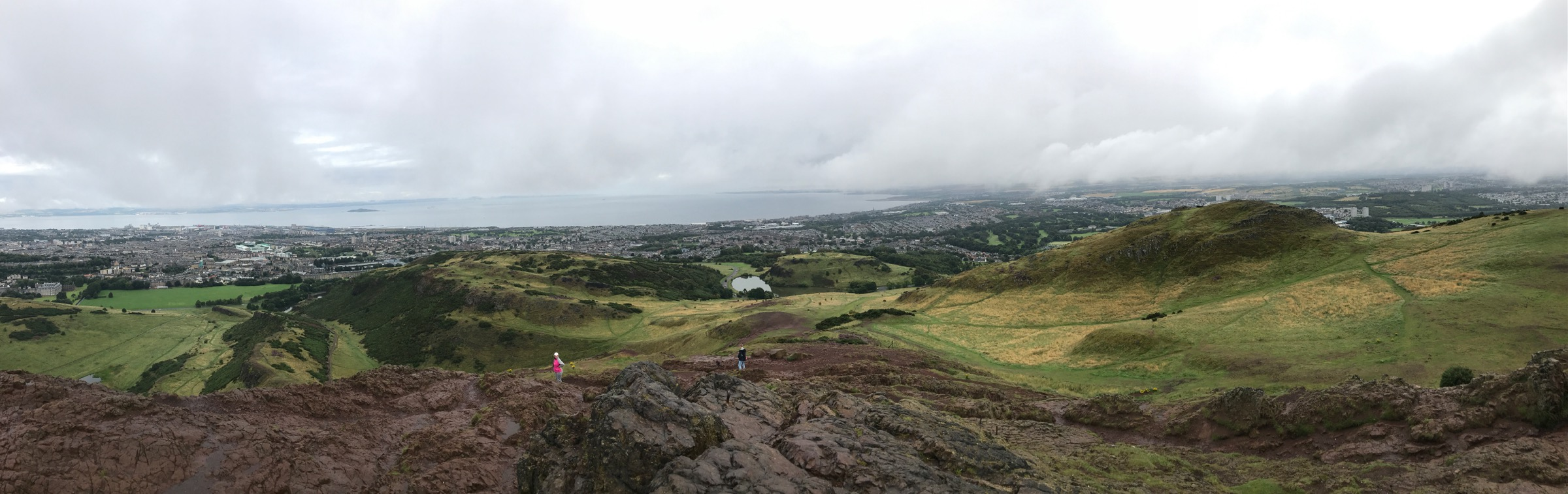 Check this view from the top of Arthur's Seat.