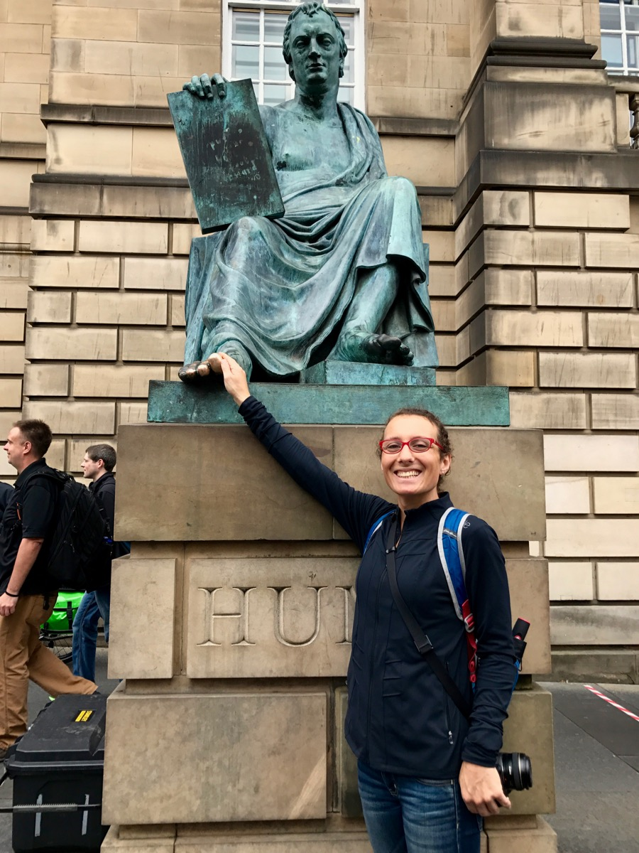 Yeah, I rubbed David Hume's toe. It was weird, but apparently it's a thing?