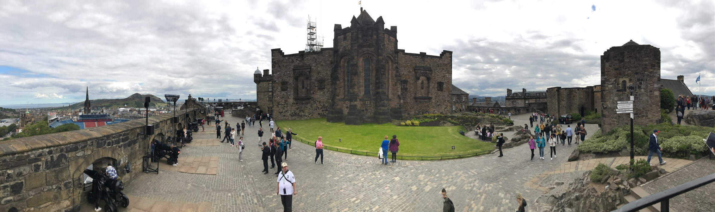 The inside of Edinburgh Castle.