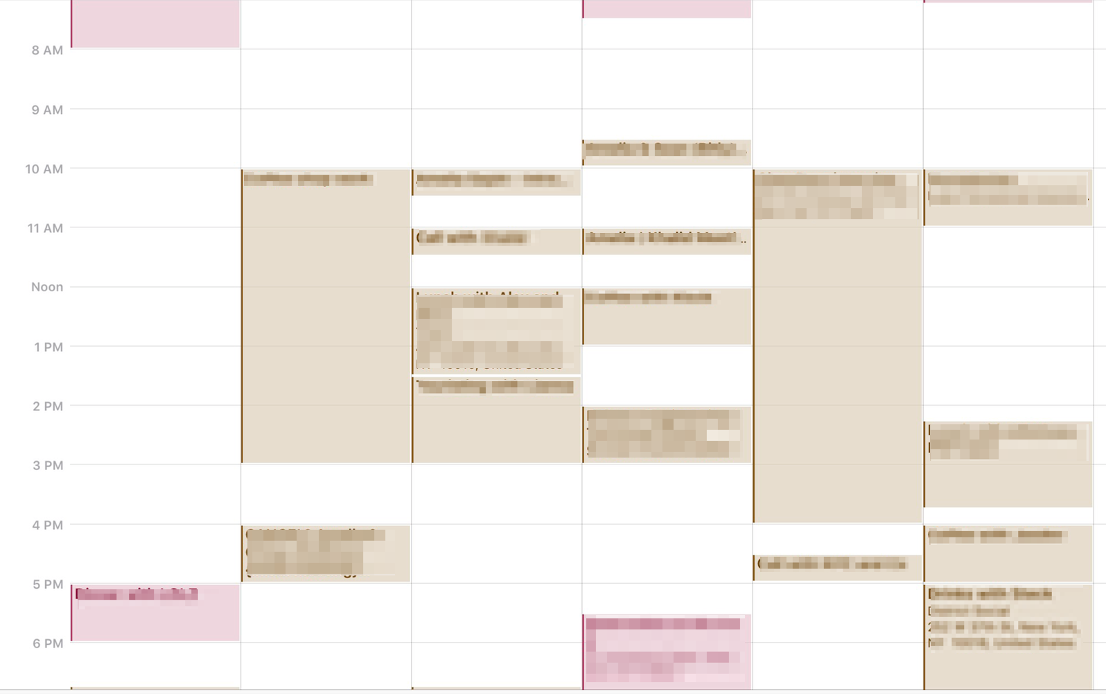 Trying to deal scheduling things when your calendar looks like this is hell.
