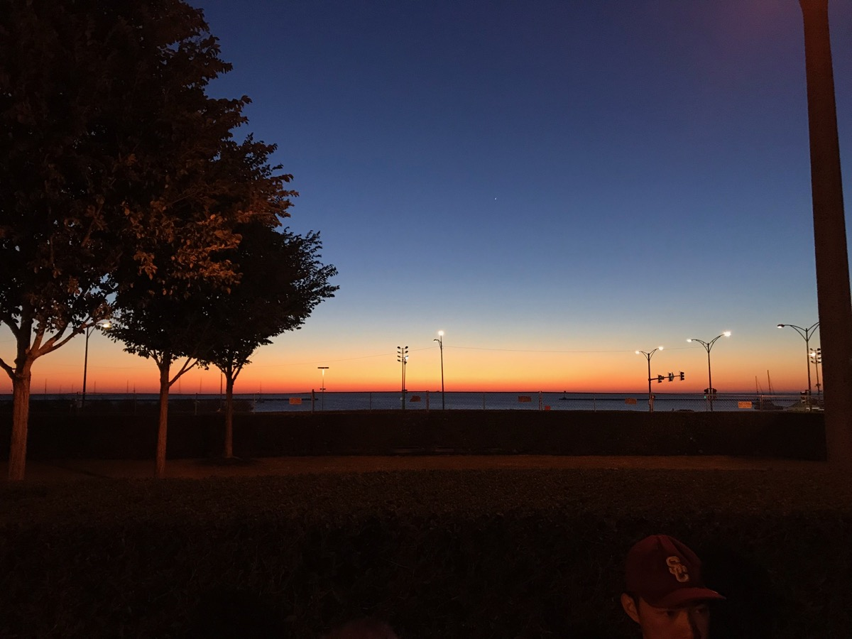 Nice sunrise over Lake Michigan.