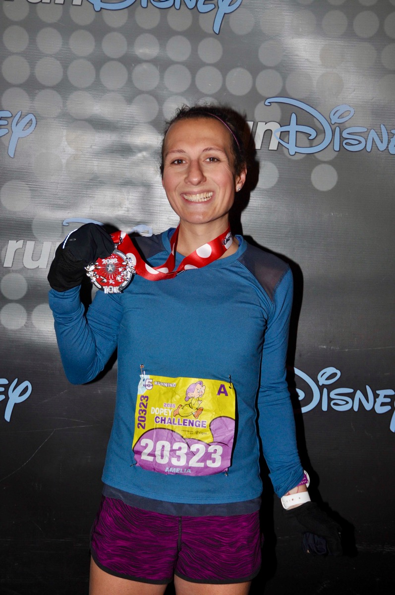 Amelia after Disney World 10k