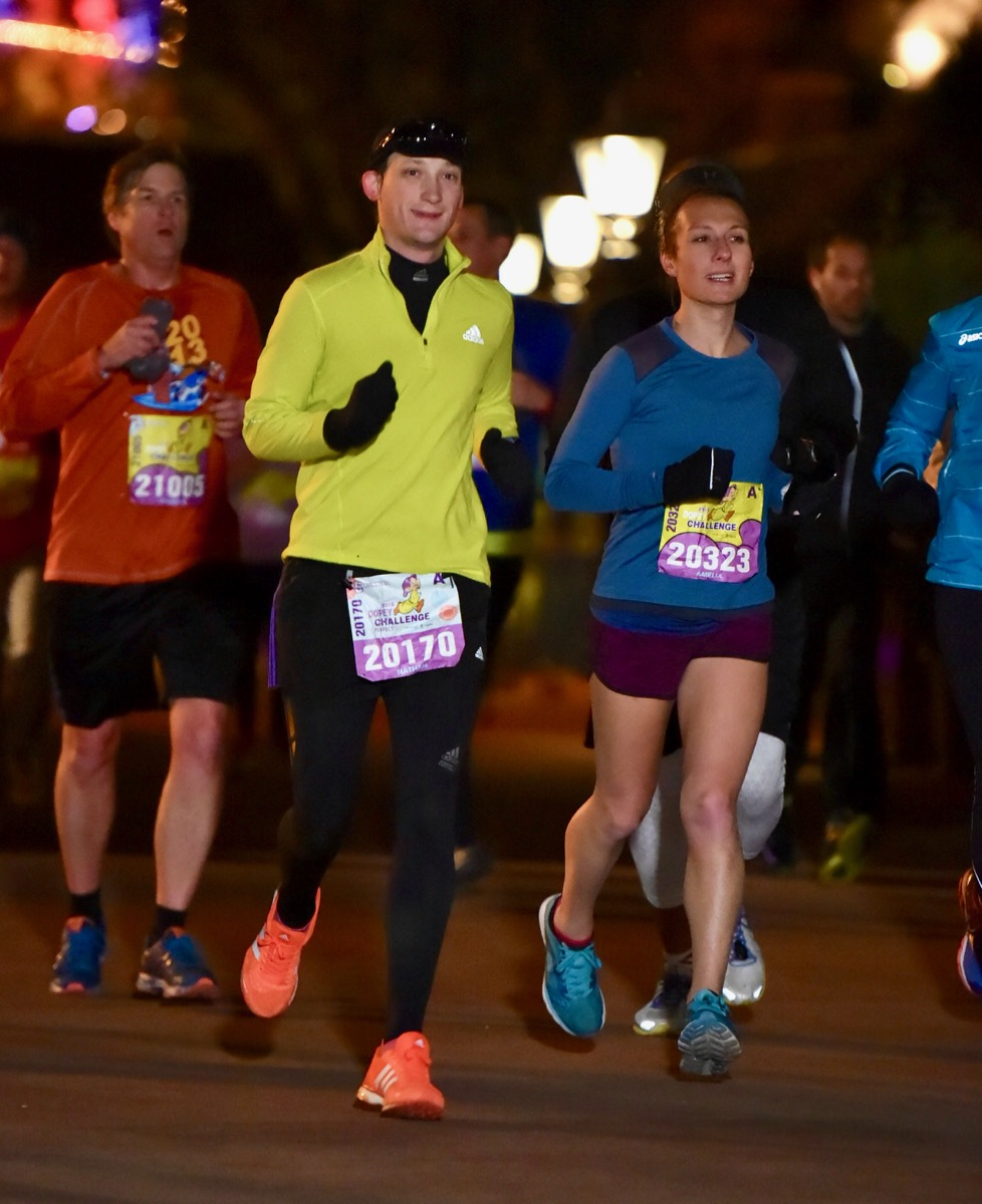 Amelia running Disney World 10k
