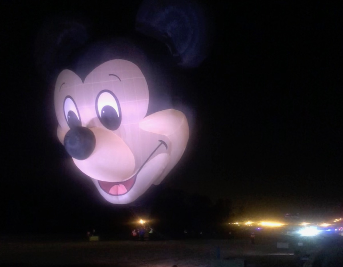 Giant Mickey Mouse hot air balloon
