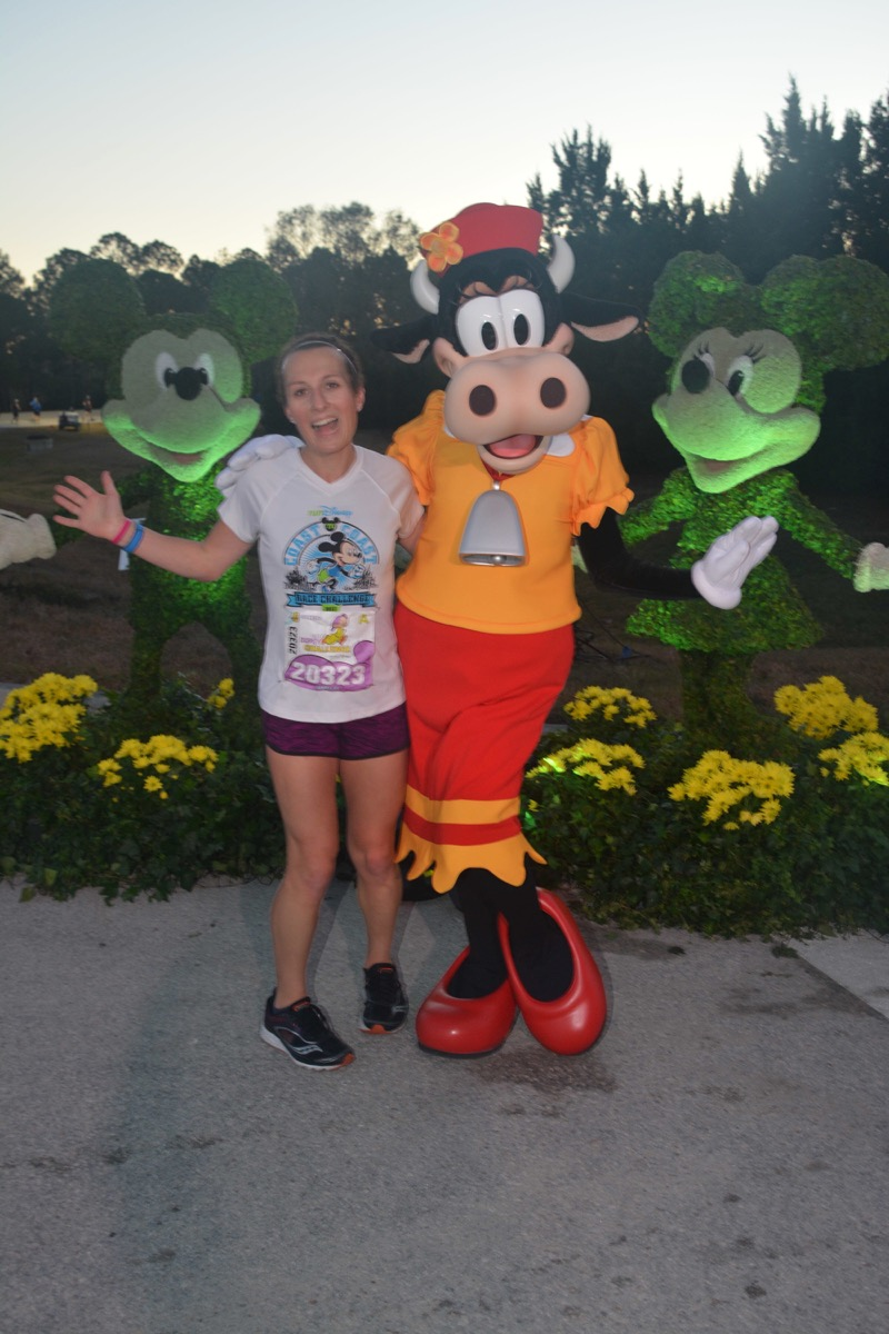 Amelia with Clarabelle Cow