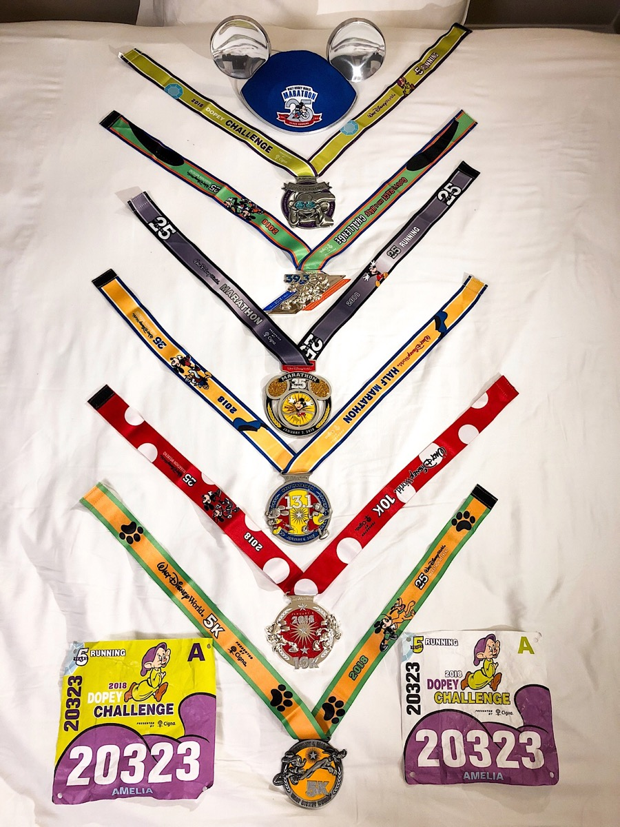 Dopey Challenge Medal Collection