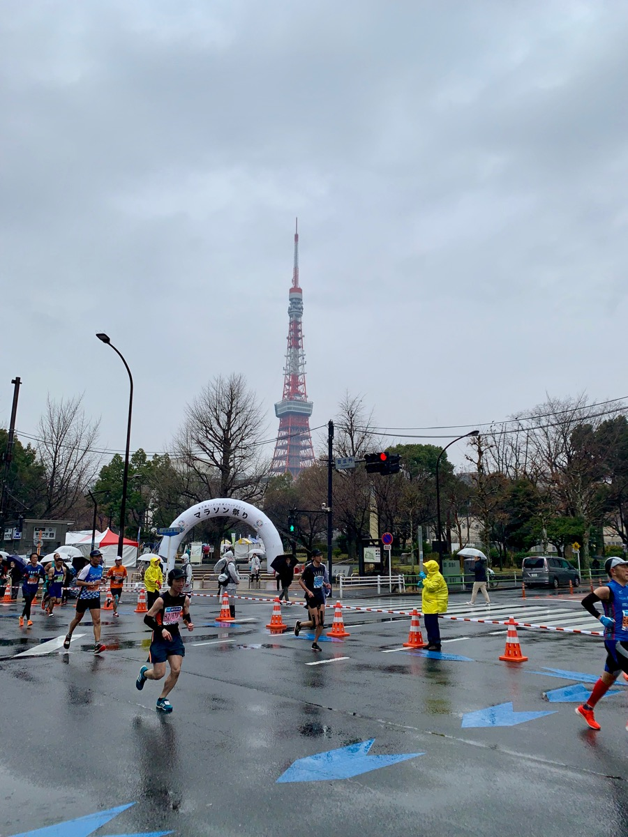 View of Tokyo Tower from the course