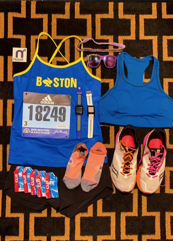Race clothes laid out and ready