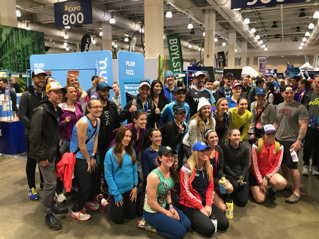 Team Nuun group photo at the expo